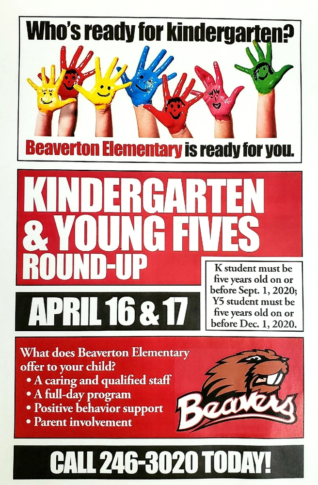 Kindergarten and Young Fives Round-Up.